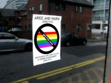 anti-gay-sticker campaign in London