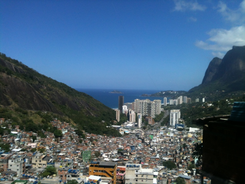 Rocinha favela in Rio from the summit