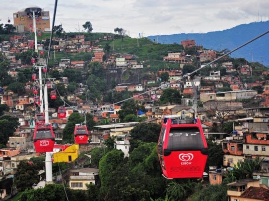 Favela cable car