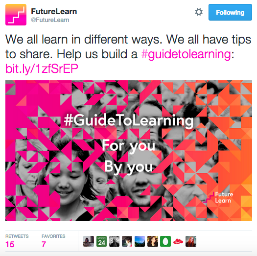 FutureLearn Guide to Learning Tweet