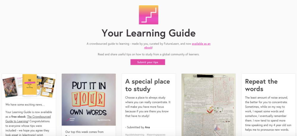 Learning Guide Tumblr blog