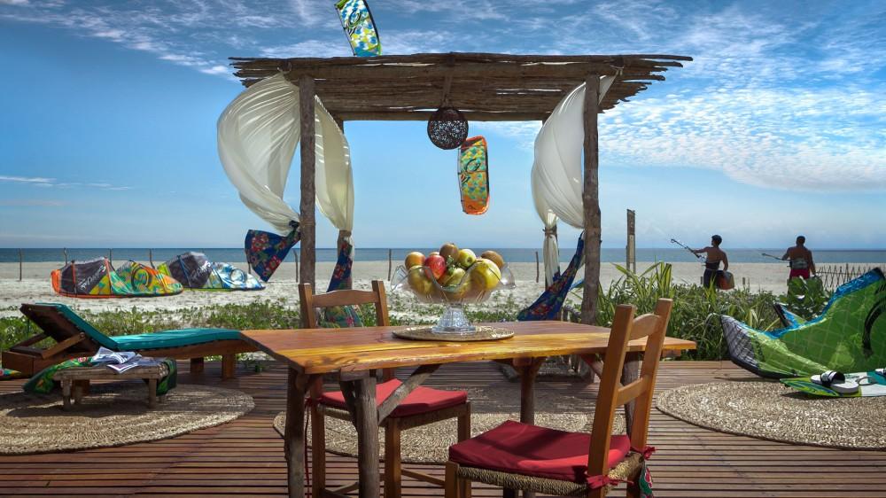 View from Bar da Praia, Rancho do Peixe in Prea, Brazil